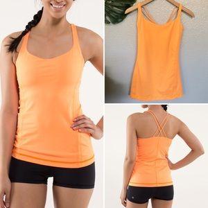 Lululemon Free to Be orange workout tank size 8